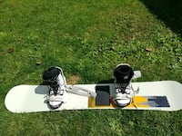 white and black snowboard with bindings Brampton, L6S 2R9