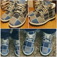 pair of blue-and-white high top sneakers Fort Worth, 76103