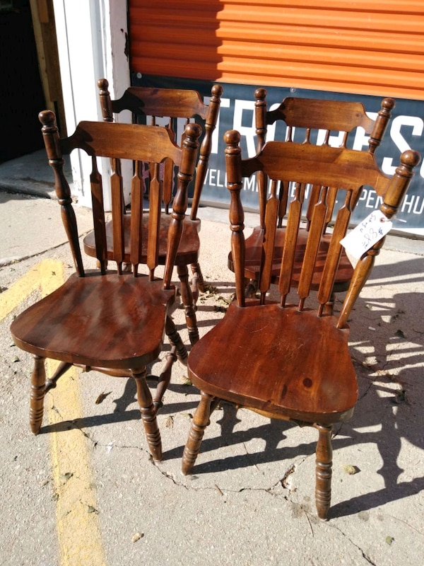 Used Sturdy 4 Pc Dining Room Chair Set For Sale In