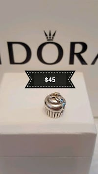 Authentic Pandora Silver/ 14 K Charm