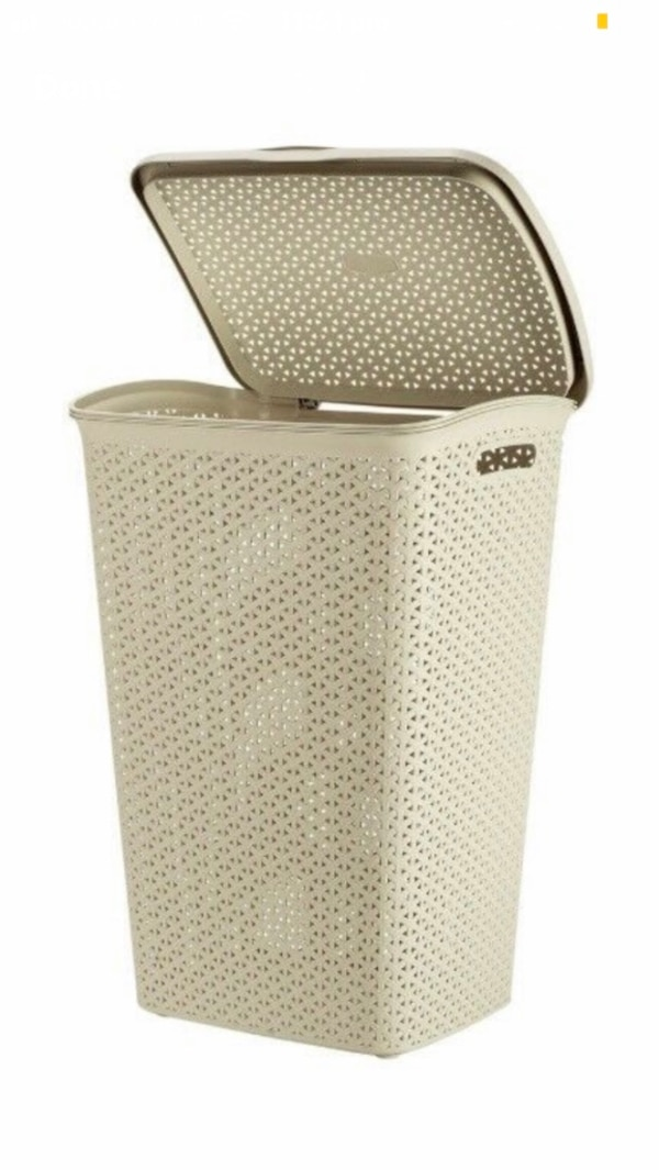 Cream curver laundry hamper