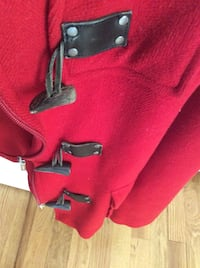 RED BURBERRY JACKET ! Medium! In very good condition .