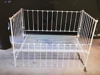 Antique Metal Crib - 100+ years old - sandblasted and powder coated Ship Bottom
