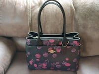 black and pink floral leather tote bag Silver Spring, 20906