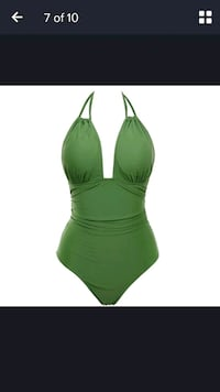 green and white halter bikini top Westland, 48185