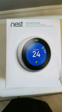 white and black Nest learning thermostat Brampton, L6P