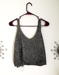 Crop top (grey, sparkly) Los Angeles, 91306