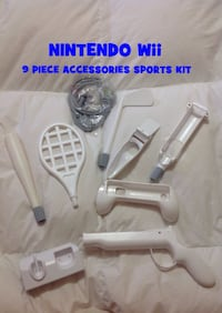NINTENDO Wii 9 Piece Sports Accessories Kit: New Condition Toronto, M6G