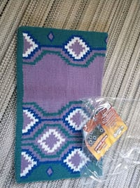 Green, purple, blue contour saddle blanket Manteca, 95336