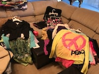 75 pieces of Justice and Abercrombie clothes sizes 10 through 20 null