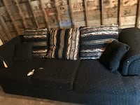 Black and brown fabric sofa Edmonton, T5W 3G1