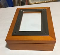 Graduation wooden Memory box with oucture frame feature on front Mississauga, L5M 5E7