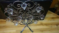 Solid vast iron candelabra with glass globes Clearwater, 33762
