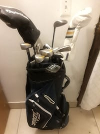 The whole golf bag including golf ball pins