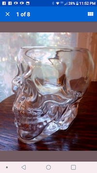 Glass skull candy bowl Tullahoma