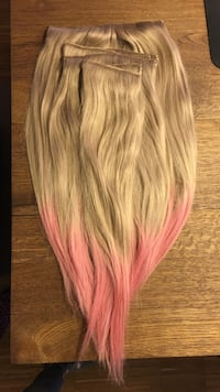 GREY/PINK-ombre hairexstensions by SophieElise Oslo, 0872