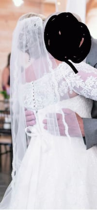 Cathedral Length Lace Wedding Veil Greer, 29650