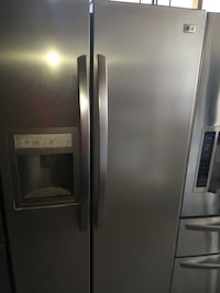 Used Gray Lg Side By Side Refrigerator For Sale In Houston