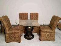 brown wooden framed glass-top coffee table Richmond, 77406