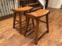 Two wooden stools - from Pottery Barn  Toronto, M4R 1K2