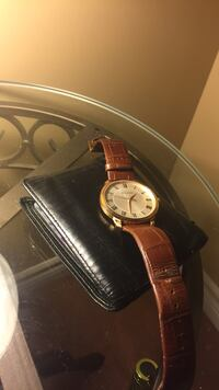 Bulova watch with genuine leather strap Coverdale, E1J 1K2