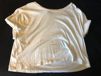 White XL Crop Top Bixby, 74008