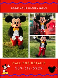 Mickey mouse mascot collage