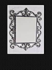 Ornate Heavy Metal Mirror...large Surrey