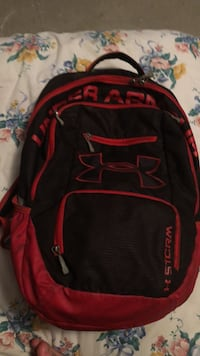 Red and black Under Armour Backpack Washington, 20024