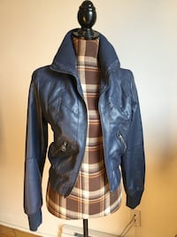 Brand new blue leather jacket in small Montréal, H1P 2W8