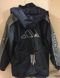black and white Adidas zip-up jacket Arlington, 22204