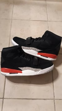Air Jordan's Legacy 312 Black/Fire Red Shoes-Brand New-Size 11, 13