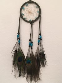 Blue and brown peacock feather dream catcher Murrieta, 92562