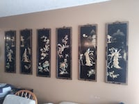 Six mother of pearl wall art Citrus Heights
