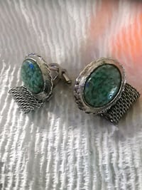 real silver and turquoise cuflinks Delray Beach
