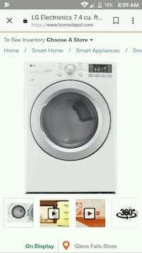 LG washer and dryer 372 mi