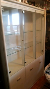 white wooden framed glass display cabinet Guelph, N1H 1J6