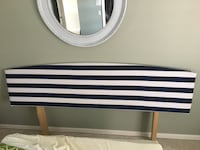 Nautical King Headboard with navy and white stripes Palm Beach Gardens, 33418