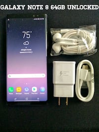 black Samsung Galaxy S8 + with box Arlington