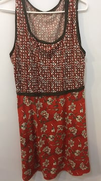 Red and white floral spaghetti strap top Richmond Hill