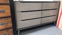 black wooden 6-drawer dresser Redondo Beach