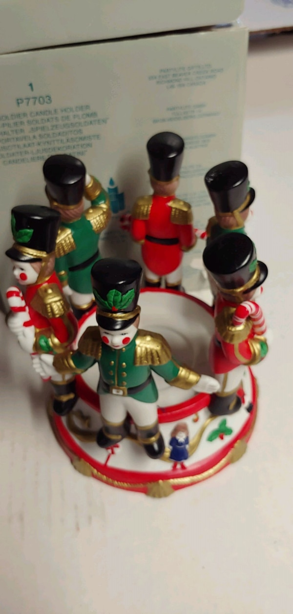 Used Vintage Toy Soldier Candle Holder For Sale In New