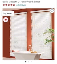 """(NEW) Bali Blinds Custom Faux Wood 2"""" Corded Fort Lauderdale, 33309"""