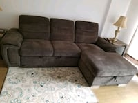 Sofa bed dark brown, moving sale, price negotiable for serious buyer  Montréal, H4N