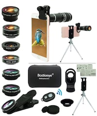 Brand new Cell Phone Camera Lens Kit,11 in 1 Universal 20x Zoom 马卡姆, L6E 2C4