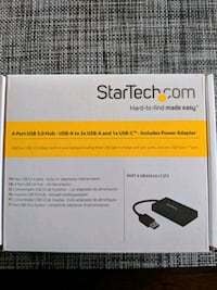 StartTech 4 port USB 3.0 Hub with power adapter Brantford