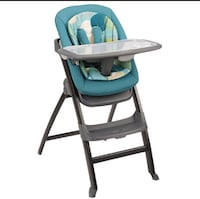 baby's gray and green high chair Mississauga