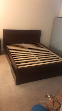 black and brown wooden bed frame Arlington, 22202