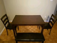 rectangular brown wooden table with two chairs Longueuil, J4T 2S5
