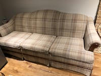 brown and white plaid fabric sofa Barrie, L4N 8W8